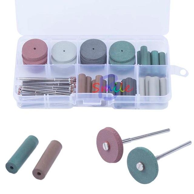 1 set High Quality Dental Silicone Rubber Polishing Grinding Wheels Burs Coarse Fine Ultra 10pcs Shank Mandrel 2.35mm