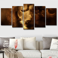 5 Pcs/set Animals Lion Canvas Painting modern Hanging Art Lion King wall art for living room Abstract artwork painted on Canvas