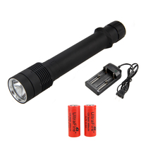 Underwater 3000LM XM L L2 LED Scuba Diving 100M Flashlight Torch Lantern Lamp 2x6800mAh 26650 Battery