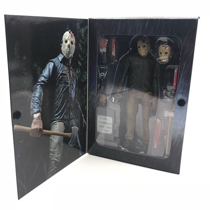 Friday The 13TH Part3 the game 3D Freddy VS Jason Chapter Cartoon Toy PVC Action Figure Model Doll 18cm фигурка planet of the apes action figure classic gorilla soldier 2 pack 18 см