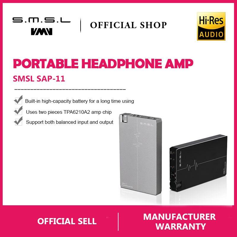 Kopfhörerverstärker Tragbares Audio & Video Smsl Sap-11 Hifi Audioportable Kopfhörer Verstärker Eingebaute High-kapazität Batterie 2,5mm Ausgewogene Ausgang 3,5mm Unsymmetrisch Ausgang äRger LöSchen Und Durst LöSchen