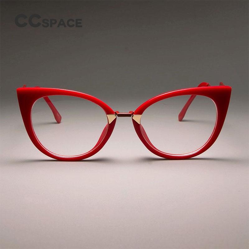 CCSPACE Ladies Sexy Cat Eye Glasses Frames For Women GORGEOUS Brand Designer Optical EyeGlasses Fashion Eyewear 45045