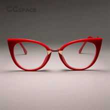 CCSPACE женские сексуальные очки кошачий глаз, оправа для женщин, великолепные брендовые дизайнерские оптические очки, модные очки 45045
