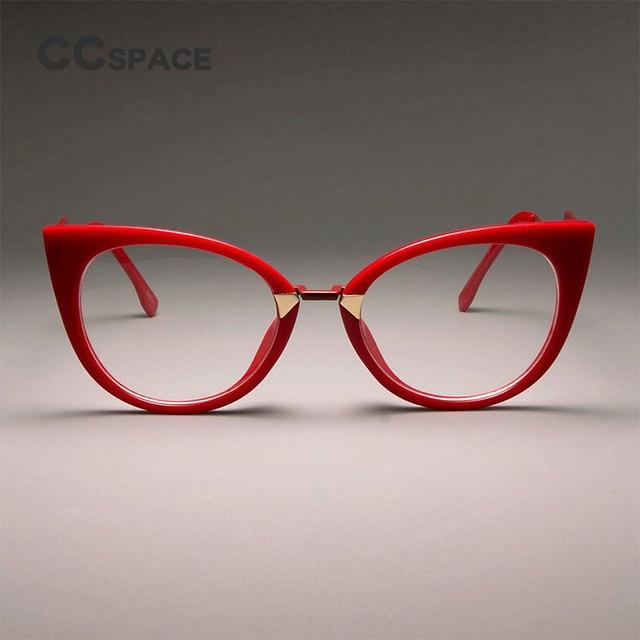 c45106e1a7 CCSPACE Ladies Sexy Cat Eye Glasses Frames For Women GORGEOUS Brand Designer  Optical EyeGlasses Fashion Eyewear 45045