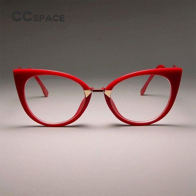 b1aec8b72 CCSPACE السيدات مثير القط العين إطارات النظارات للنساء رائع العلامة  التجارية مصمم النظارات البصرية نظارات حديثة