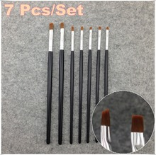 7 Sizes Professional Acrylic Nail Art Brush Set for UV Gel Builder Nal Brushes Dropshipping NR