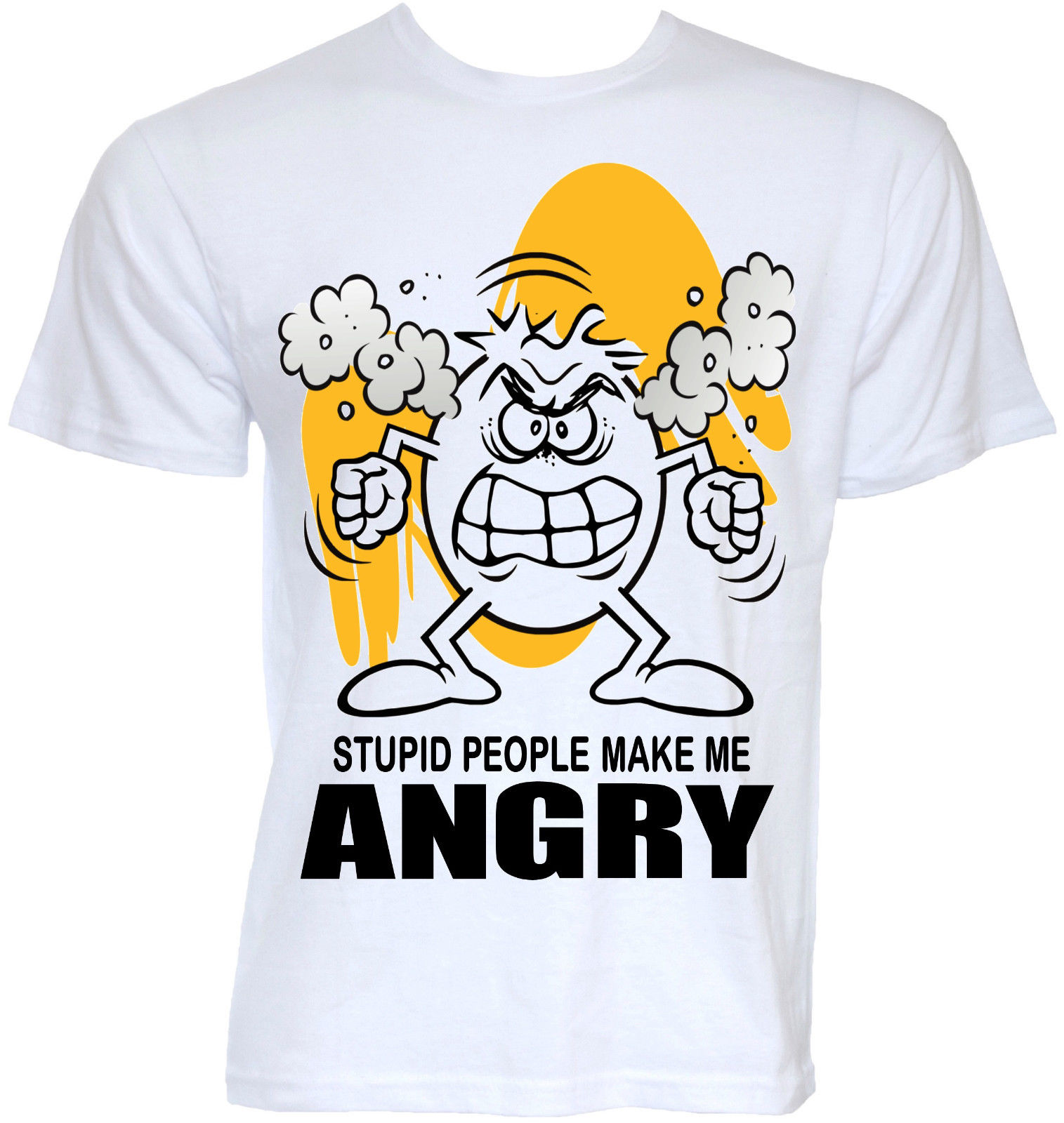 FUNNY COOL NOVELTY ANGRY BAD TEMPER STUPID JOKE RUDE T-SHIRTS GIFTS FOR DAD HIM Short Sleeve Hip Hop Tee T Shirt High Quality
