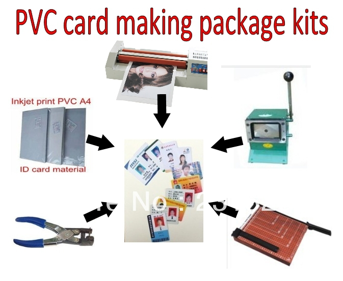 ID card making machine kits package Simple tools for ID card making