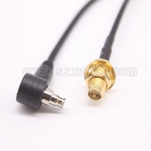 JX connector 10pcs RP-SMA Female bulkhead to TS9 antenna Pigtail cable assemble TS9 connector for 3G 4G antenna Free shipping