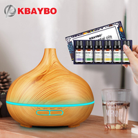 KBAYBO Air Humidifier Essential Oil Dark Wood Aromatherapy Air Purifier Cool Mist Maker Natural Plant Pure
