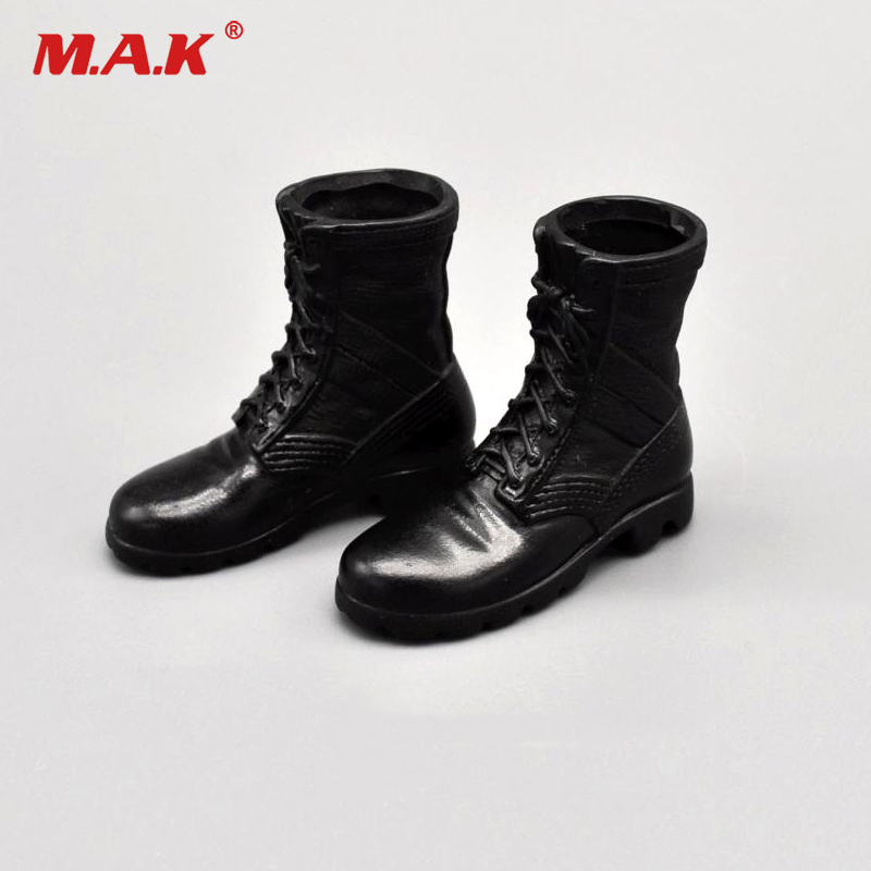Shoes Model 1:6 Scale US Military Special Forces Combat Boots Shoes Model Solide Inside Fit 12