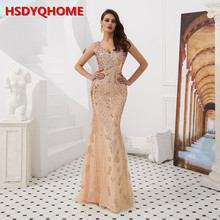 HSDYQ HOME HSDYQHOME Mermaid Evening Dress Sexy 2019 V-neck