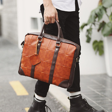 ФОТО Tidog Korean male Bag Satchel Handbag leisure Vintage Computer Briefcase