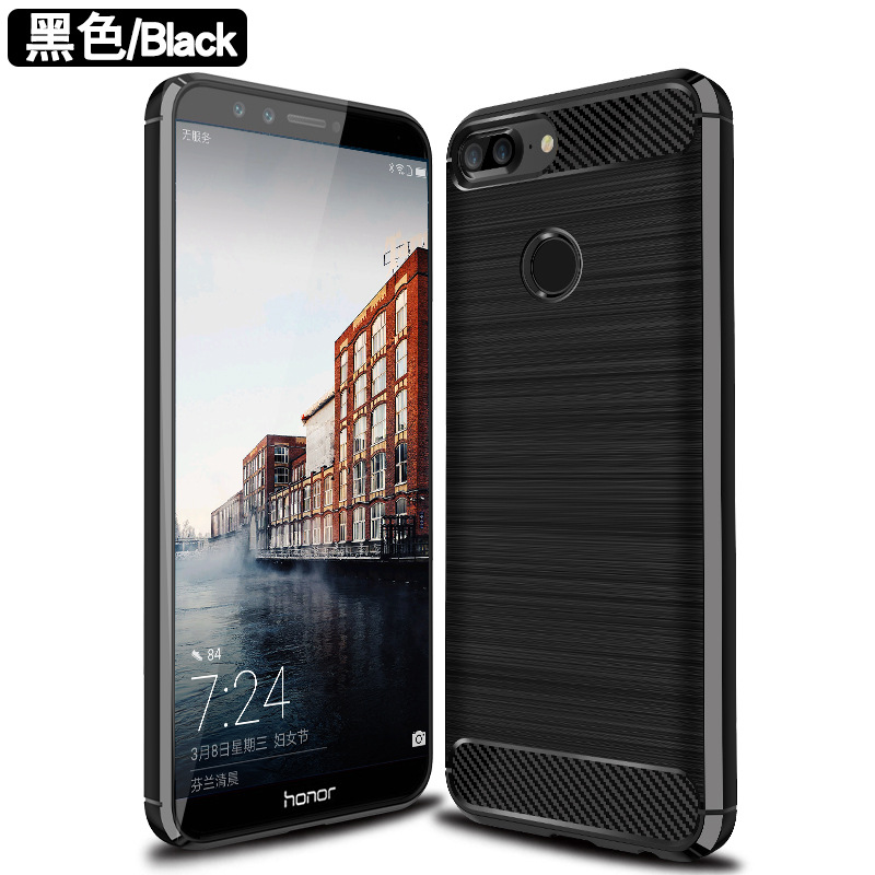 huawei honor 10 lite case new Luxury Slim Brushed Pattern Rugged Protective Back Cover TPU Silicone for huawei honor 10 lite(China)