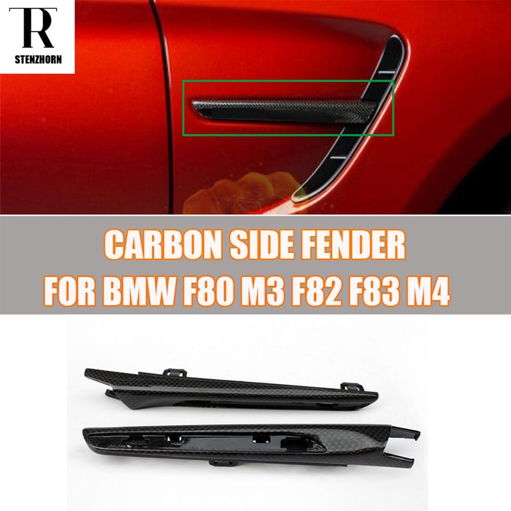 1 pair m3 m4 carbon fiber side fender cover trim for bmw f80 m3 f82 m4