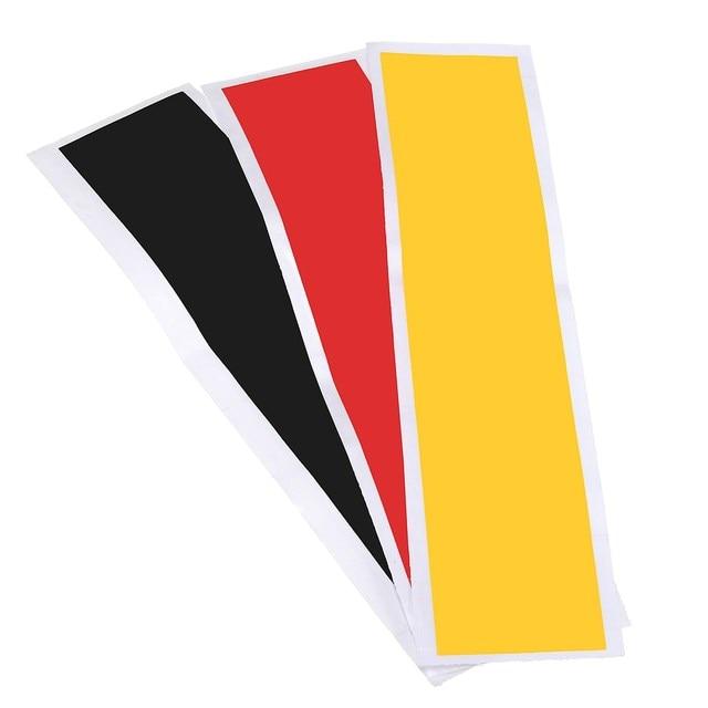 Ensemble autocollant drapeau allemand bandes de couleur   Étiquette décalque de bricolage pour Audi /BMW /Mercedes /VW