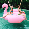 Hot Sale 200 cm 0.3 mm giant inflatable pink flamingo swimming pool water raft float ride on flamingo inflatable