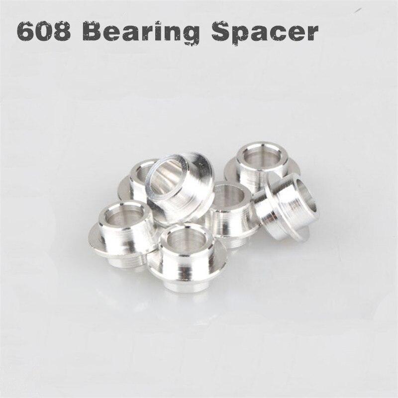 100pcs lot Skate 608s bearing Spacer roller skates parts speed skate bearing bushing skating spacer 10