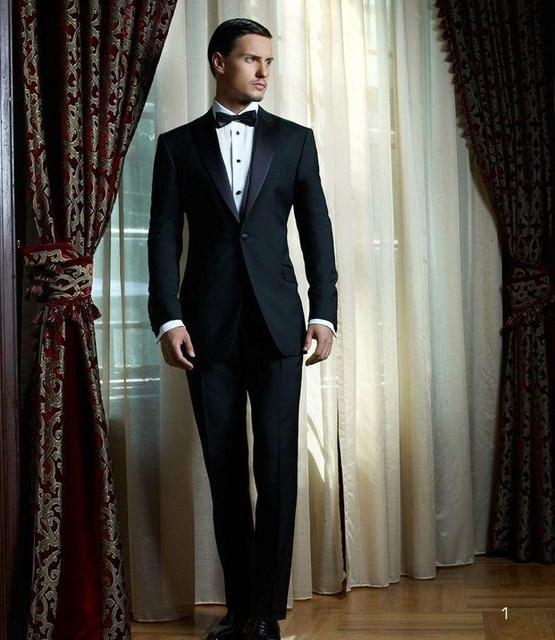 Custom Made Slim Fit Muesca Solapa de Los Hombres Blazers traje Homme de dos Botones Traje de Boda de Los Hombres Trajes de Negocios Novio Mejor Hombre traje