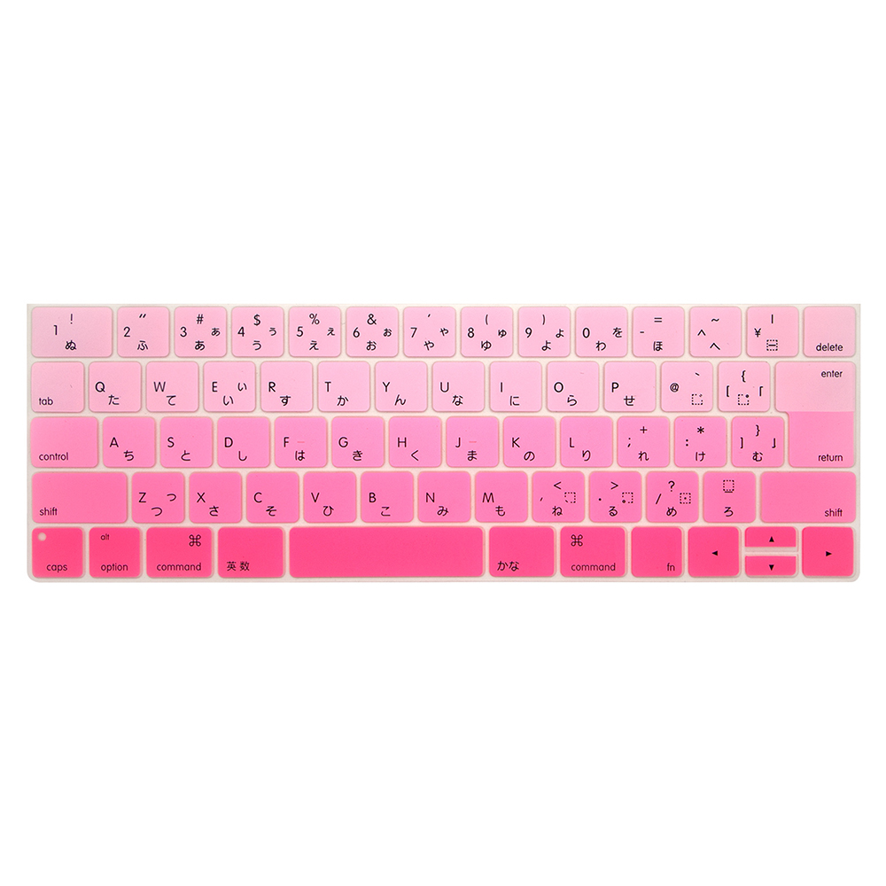 Japanese version keyboard cover in Laptop Keyboard Covers For Mac book touch bar 13 15 inch Laptop Keyboard Covers Case in Keyboard Covers from Computer Office