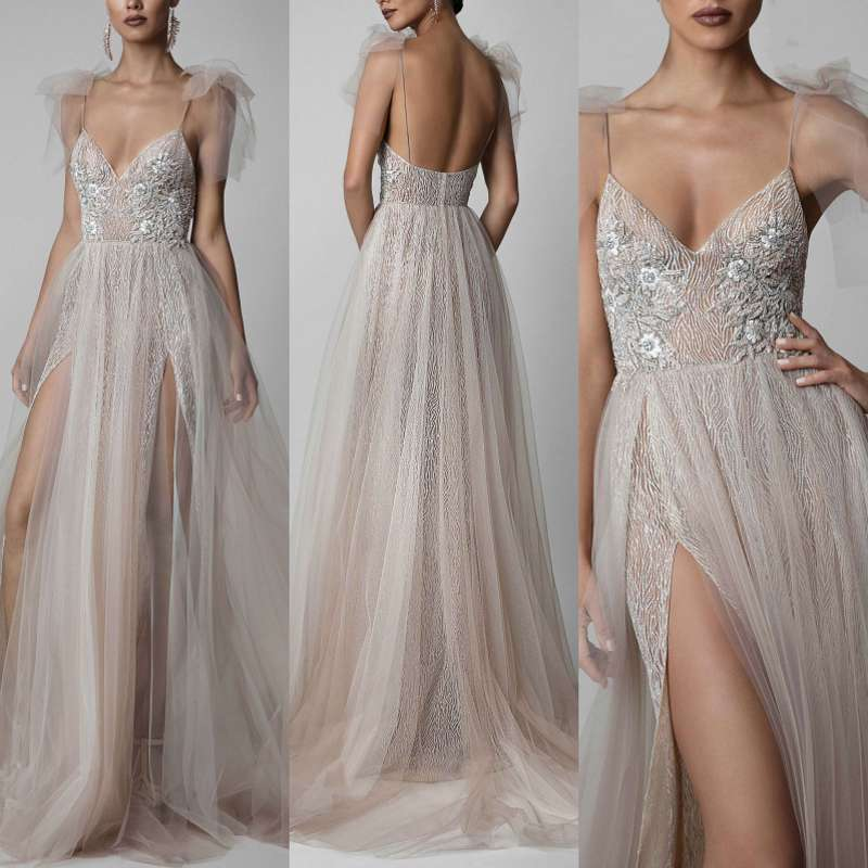 Sexy Long   Evening     Dress   Prom   Dresses   Tulle Sequin Women Formal Gown For Prom Wedding Party   Dresses   Robe De Soiree