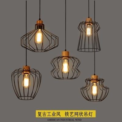 Style Led Fer Pendentif Loft En Bois Luminaires Nordique De MLpqSzVUG