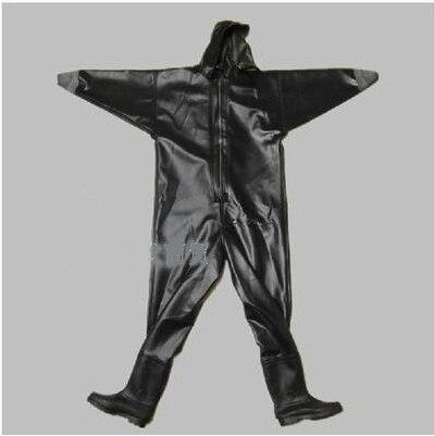 Мужские дышащие сапоги, 1 мм, черные, из телячьей кожи, ПВХ