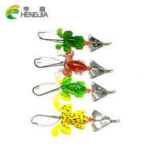 4pcs Rubber Frog Soft Fishing Lures 6g Bass CrankBait Spinnerbait Fishing Tackle SP011