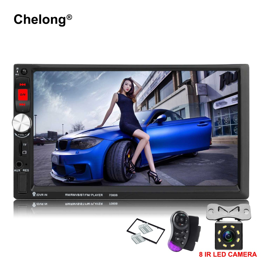 2 Din 7080B Car Radio Android Mirror 7 Inch with 1024*600 Touch Screen Bluetooth Stereo Radio Car MP3 MP4 MP5 Audio USB Auto touch screen stylus with strap for cell phones pda mp4 mp5 purple