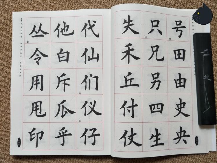Tian Yingzhang Brush Regular Script Chinese Calligraphy Book Kai ShU Shu Fa Mao Bi Zi,2500words,170pages