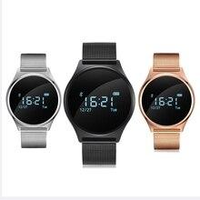 M7 ronda bluetooth smart watch vida a prueba de agua de la presión arterial/monitor de ritmo cardiaco sport pulsera inteligente para android ios