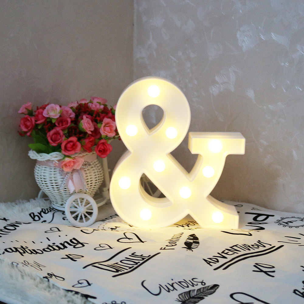 Delicore white letter led marquee sign alphabet light for Indoor marquee decoration
