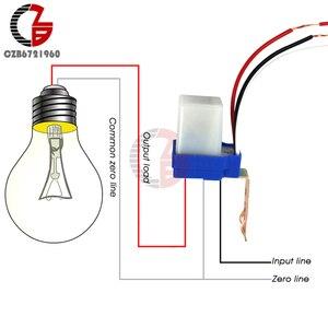 Image 1 - AC 220V DC 12V 24V מתג אוטומטי אוטומטי על Off תא פוטואלקטרי רחוב אור מתג 10A Photoswitch חיישן שליטת אור מתג