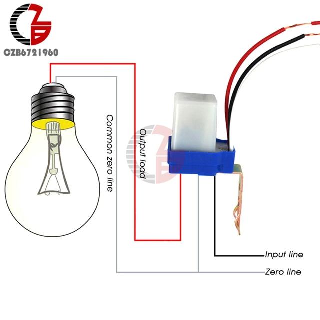 AC 220V DC 12V 24V מתג אוטומטי אוטומטי על Off תא פוטואלקטרי רחוב אור מתג 10A Photoswitch חיישן שליטת אור מתג