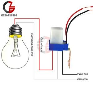 AC 220V DC 12V 24V Switch Automatic Auto On Off Photocell Street Light Switch 10A Photoswitch Sensor Control Light Switch(China)