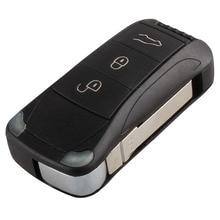Mayitr 3 кнопки складной Флип дистанционного Брелок чехол для Porsche Cayenne 2003 2004 2005 2006 2008 2009 2010