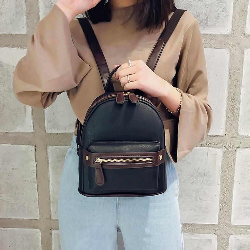 LEFTSIDE Fashion Women Small Backpack 2018 High Quality Youth PU Leather  Backpacks for Teenage Girls Female School Mini Bagpack-in Backpacks from  Luggage ... c958673a9143a