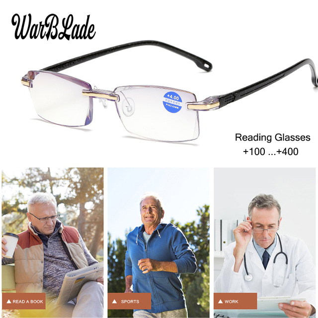 WBL Reading Glasses Men Women Rimless Ultra-Light Magnetic Presbyopic Eyeglasses For Male Female +1.0+1.5+2.0+2.5+3.0+3.5+4.0