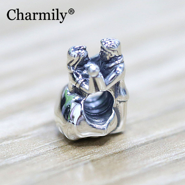 Charmily Jewelry 925 Sterling Silver Dance Charm Bead Diy For 3mm Bracelet