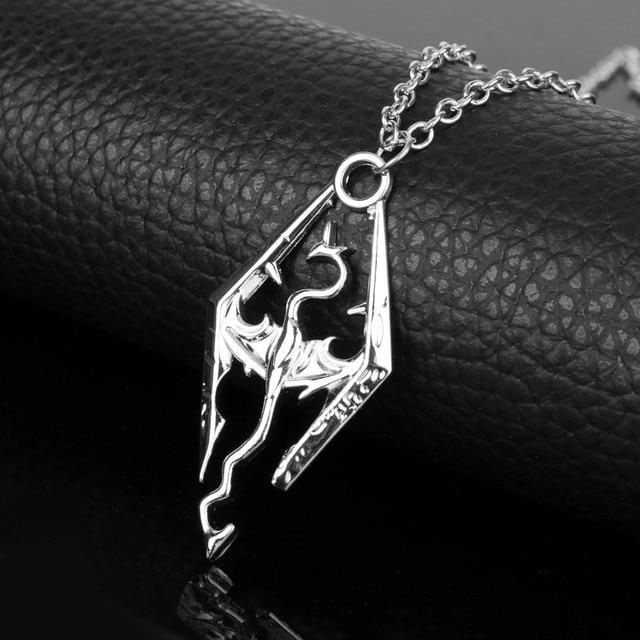 The Elder Scrolls Necklaces Hot Game Jewelry Skyrim The Dinosaur Pendant Necklace  Women Men Charms Pendants accessories