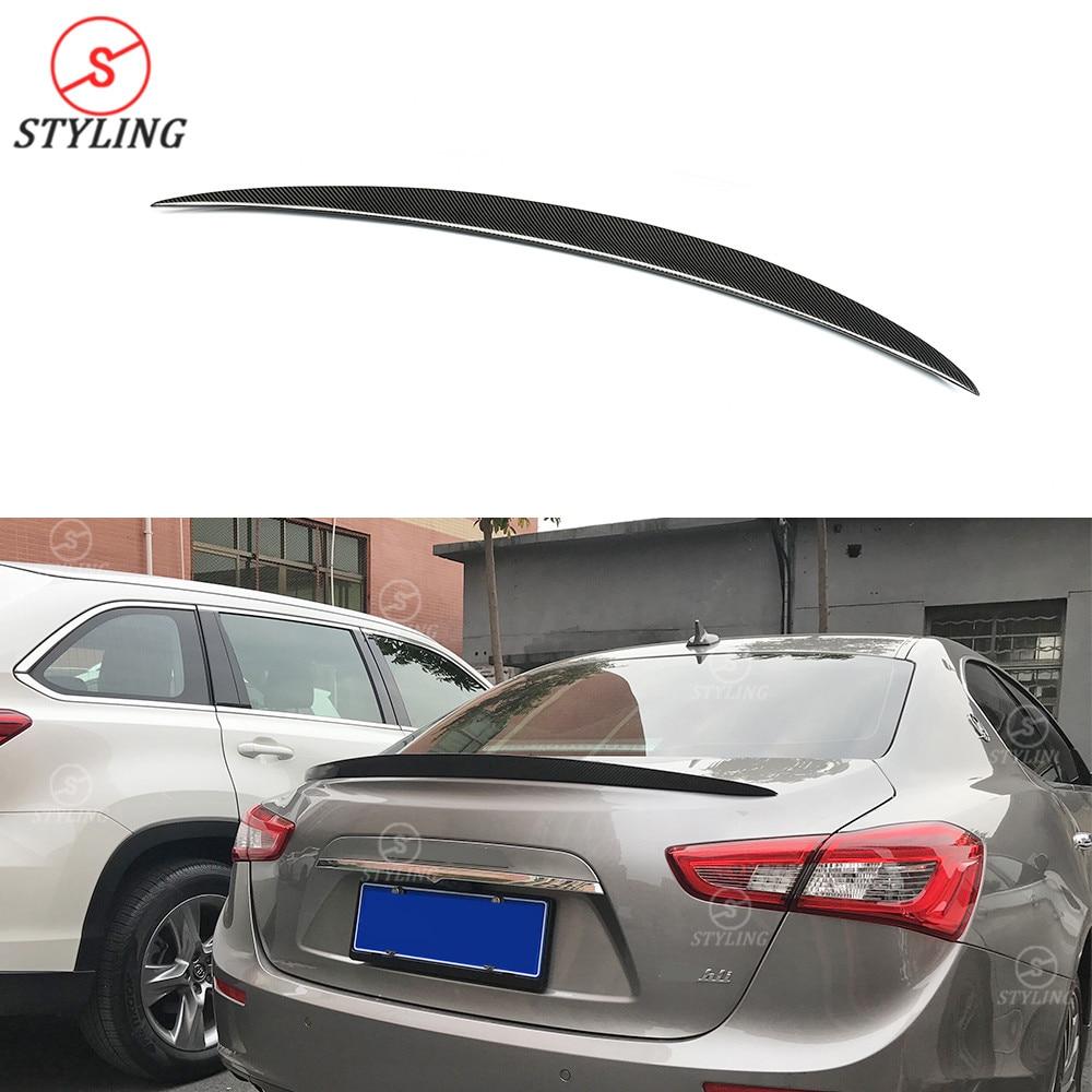Styling Carbon Rear spoiler Wald Style For Maserati Ghibli Rear Bumper trunk Lip wing 2014 2015