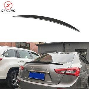Estilo alerón trasero de carbono estilo Wald para Maserati Ghibli para parachoques trasero y maletero Lip wing 2014 2015 2016 2017 2018
