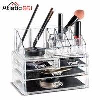 Atistic SFJ Acrylic Makeup Organizer Display Stand Cosmetic Organizer drawer Makeup Case Makeup Storage Box Rangement Maquillage