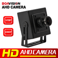 CMOS 720 P 1080 P AHD Cámara 0.01 Lux 2.8mm de Seguridad CCTV Lente analógica 2000TVL HD Mini Cámara de 2MP 1MP AHD de Metal para Uso En Interiores negro