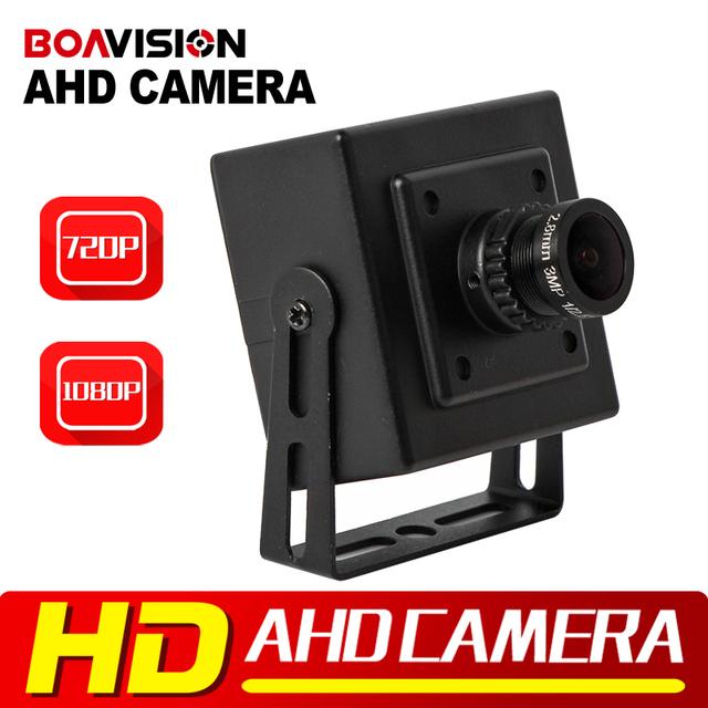 CMOS 720 P 1080 P AHD Câmera de Segurança CCTV 0.01 Lux Lente de 2.8mm analógico HD 2000TVL Mini 2MP 1MP AHD Câmera de Metal para Uso Interno preto