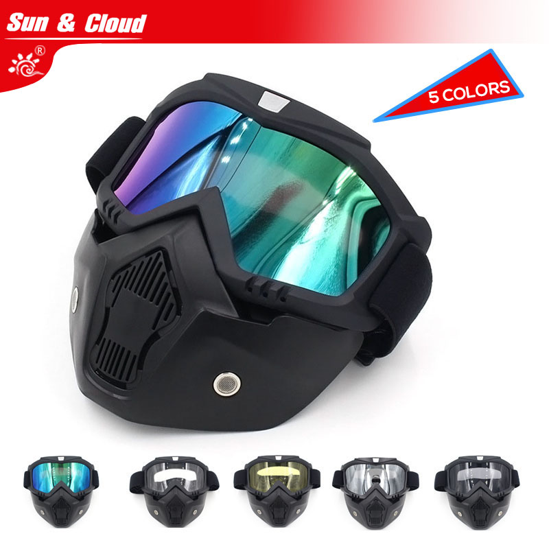 Sun & Cloud Retro  Harley Tactical Mask Harley Goggle Glasses Multi Colors For Nerf Toy Gun Game Rival Ball Outdoor CS airsoft adults cs field game skeleton warrior skull paintball mask