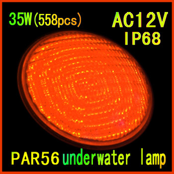Factory direct sale 2014 of the latest led swimming pool 35W(558pcs)single color 12v led underwater lights free shipping