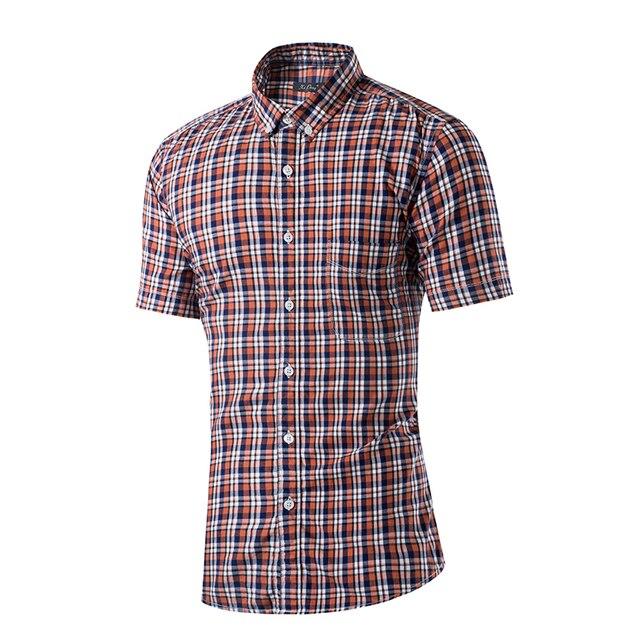2016 Luopei New Fashion Men Plain Dress Shirt Short Sleeve Turn Down Collar (L015)