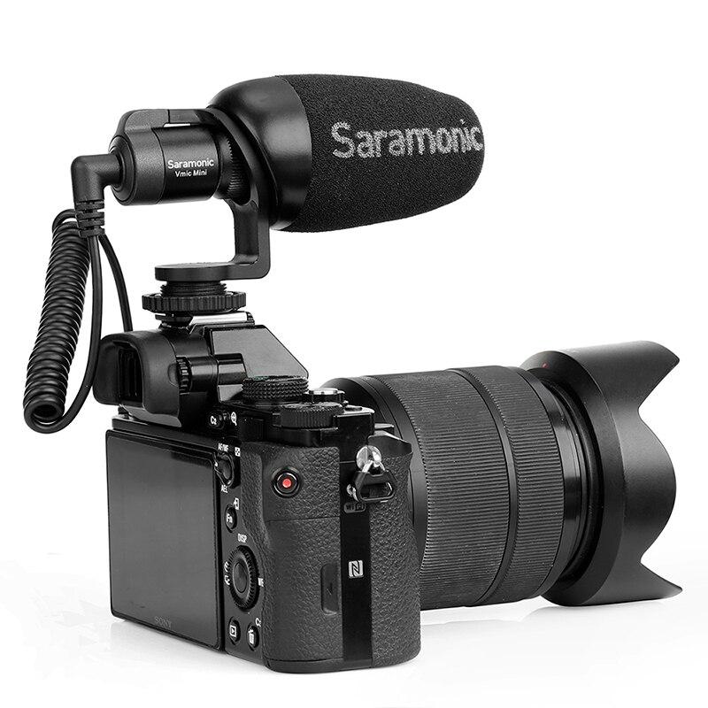 Mini micrófono condensador saramónico Vmic con Cable TRS y TRRS micrófono de grabación de vídeo vlogs para iPhone Android - 3
