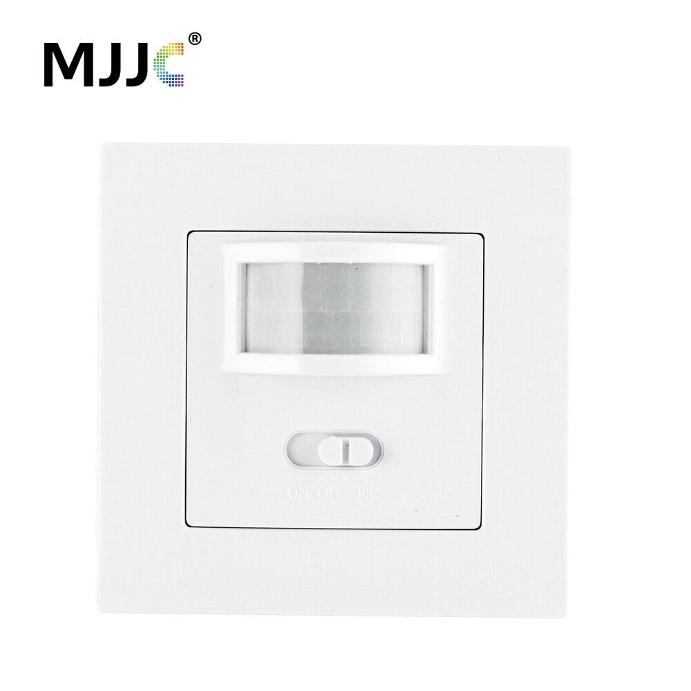 AC 110 V 220 V Pir Bewegungssensor Wand Bewegungsmelder Lichtschalter AUF/Automatisch Einbau für LED Glühbirnen